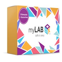 MyLab Box Chlamydia + Gonorrhea At Home STD Test + Mail-in Kit for MEN