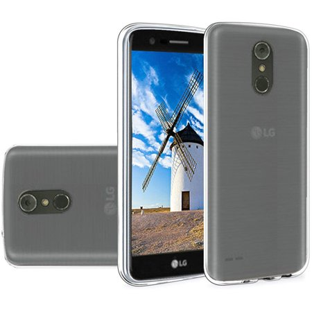 Slim TPU Silicone Soft Crystal Skin Protective Cover Case and Atom Cloth LG Stylo 4+ Plus/LG Stylo 4 (2018) - Black