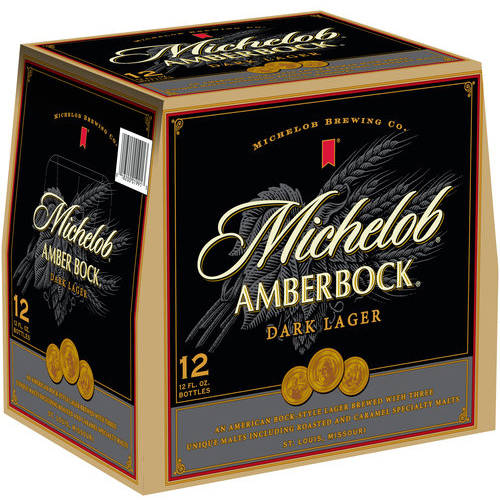 Michelob Amber Bock Dark Lager Beer, 12 pack, 12 fl oz