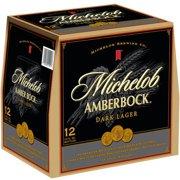 Michelob Amber Bock Dark Lager Beer, 12 pack, 12 fl oz