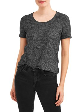 Women's Short Sleeve Textured Crewneck T-Shirt