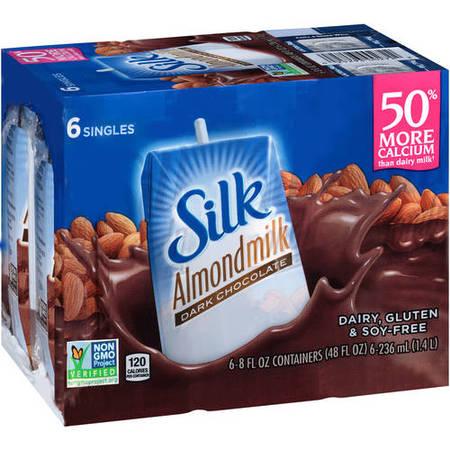 - Silk Dark Chocolate Almond Milk, 8 fl oz, 6 Count
