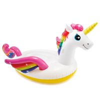 "Intex Inflatable Mega Unicorn Island Float, 113"" x 76"" x 65"""