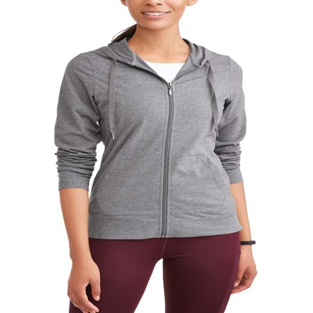 Logo Hoody Jacket - Women's Dri More Core Active Full Zip Hoodie