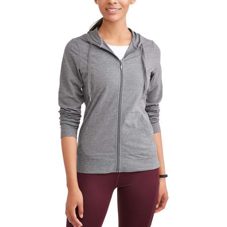 Women's Dri More Core Active Full Zip Hoodie Ash Ladies Full Zip