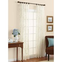 Better Homes & Gardens Embroidered Sheer Curtain Panel