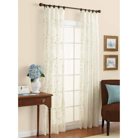 Better Homes Amp Gardens Embroidered Sheer Curtain Panel