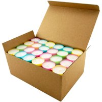 Stonebriar Collection Multicolor Tea Light Candles, 6 To 7 Hour Extended Burn Time, 96 Pack