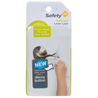 Safety 1st OutSmart Lever Lock With Decoy Button, White