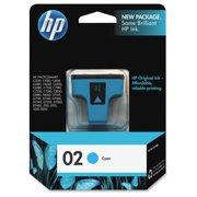 HP 02 - cyan - original - ink cartridge