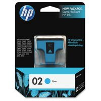 HP 02 Cyan Original Ink Cartridge (C8771WN)