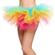 5369b65792b 5 Layers Organza Ballet Tutu Bustle Costume Dance Ballerina Skirt