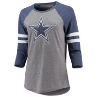 Women's Heathered Gray/Heathered Navy Dallas Cowboys Simba Raglan Long Sleeve T-Shirt