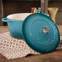The Pioneer Woman Timeless Beauty Gradient 5-Quart Dutch Oven with Daisy and Bakelite Knob