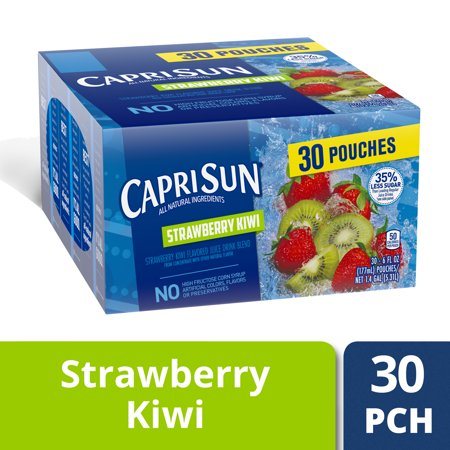 Capri Sun Strawberry Kiwi Flavored Juice Drink Blend, 30-6 fl oz Pouches - Bug Juice Halloween Drink