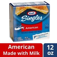 Kraft Singles American Cheese Slices, 12 oz (16 slices)