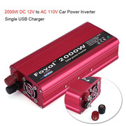 2000W DC 12V to AC 110V Power Inverter Converter W/ Dual Outlets for Home Car Outdoor Use