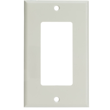 ACL Decora 1 Hole, Single Gang Wall Plate, White, 3 - One Hole Cover Plate