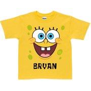 Personalized SpongeBob SquarePants Face Toddler Yellow T Shirt