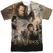 Lord of the Rings: Return of the King Movie Poster Adult 2-Sided Print T-Shirt