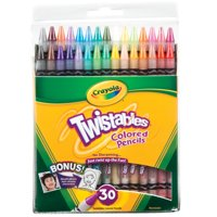 Crayola Twistables Colored Pencil Set, 30-Colors