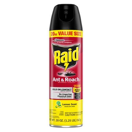 Raid Ant & Roach Killer 26, Lemon Scent, 20 oz