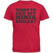Want To See My Ninja Skills Red Youth Flip Up T-Shirt