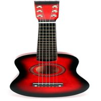Acoustic Classic Rock 'N' Roll 6 Stringed Toy Guitar Musical Instrument w/ Guitar Pick, Extra Guitar String (Red)