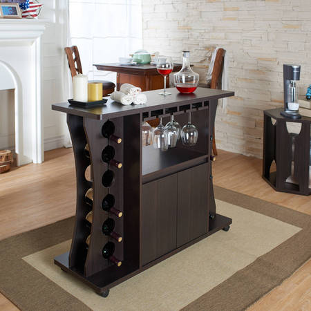 Furniture of America Alton Modern Multi-Storage Buffet, Espresso ()