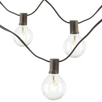 19-Foot Long Electric Light String Set With 20 G40 Bulbs