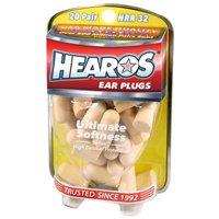 HEAROS Ultimate Softness 20 pair NRR32 Ear Plugs