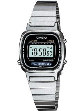 Ladies' Digital Alarm Watch, Stainless Steel