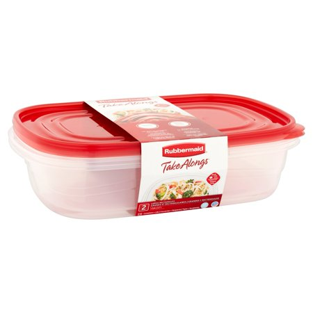 - Rubbermaid Take Alongs Rectangular Food Storage Container Set (2 Pieces)