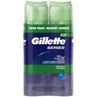 4 Counts - Gillette Series Sensitive Shave Gel, 7oz., 2 Packs of 2