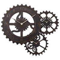 """Better Homes & Gardens 24"""" Gear Wall Clock, Bronze"""