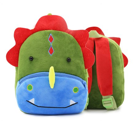 3D Children Kids Toddler Preschool Kindergarten Backpack for Boys Girls, Super Cute Cartoon Travel Lunch Bags, Cute Dinosaur Design for 2-4 Years