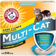 Arm & Hammer Multi-Cat Unscented Clumping Cat Litter, 20-lb