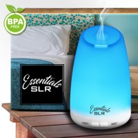 SLR 120ml Aromatherapy Essential Oil Diffuser with Multi-Color Changing LED, Ultrasonic Aroma Air Humidifer, Auto Shut-Off, BPA Free