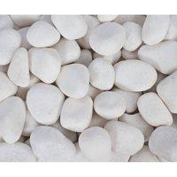 """Margo 20 lb Snow White Pebbles, .5"""" to 1.5"""""""