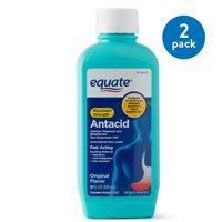 (2 Pack) Equate Maximum Strength Antacid/Anti-Gas Original Flavor Liquid, 400 mg, 12 Oz