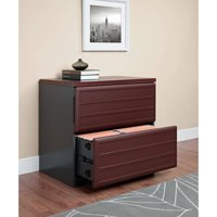 Ameriwood Home Pursuit Lateral File Cabinet, Cherry/Gray