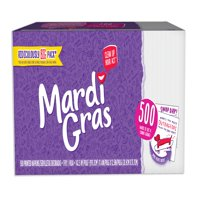 (2 pack) Mardi Gras Paper Napkins, Conversation Starter Prints, 500 Count (1,000 Napkins Total)