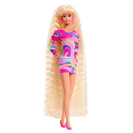 Barbie Totally Hair 25th Anniversary 90s Barbie Doll with Crimped Hair