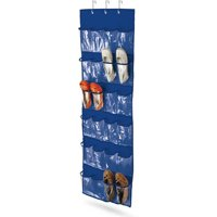 Honey Can Do 12-Pair Over-the-Door Shoe Organizer, Navy