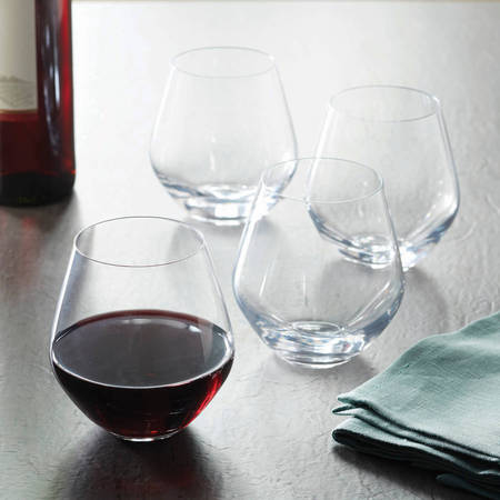 Better Homes & Gardens 17.5 Ounce Cielo Stemless Red Wine Glasses, 4 - Wine Glass Ideas