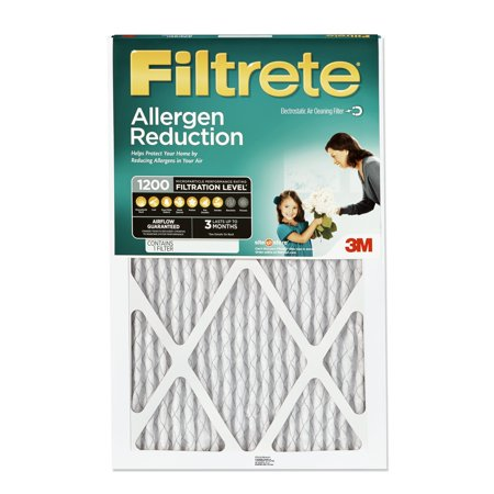 Filtrete 16x25x1, Allergen Reduction HVAC Furnace Air Filter, 1200 MPR, 1