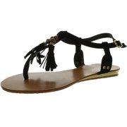 b1851f341f258 Bamboo Women SAILI-05 Fringe Tassle Sandals