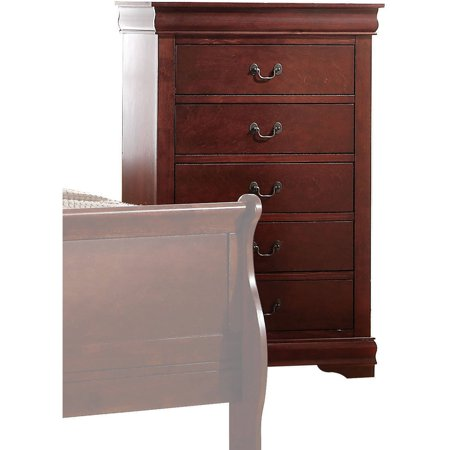 Acme Furniture Louis Philippe Chest with Five Drawers, Multiple Finishes Cambridge 5 Drawer Chest