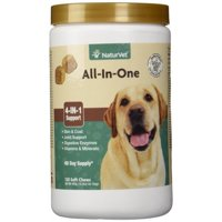 Naturvet All-In-One Veterinarian formulated Complete Health Solution for Dogs, 120 Chews
