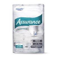 Equate Assurance Underwear for Men, Maximum, S/M, 40 Ct